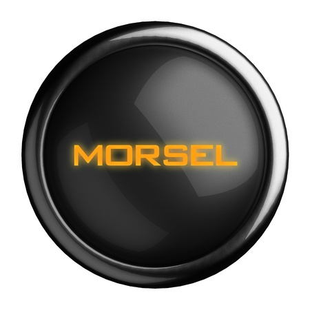 morsel: Word on black button