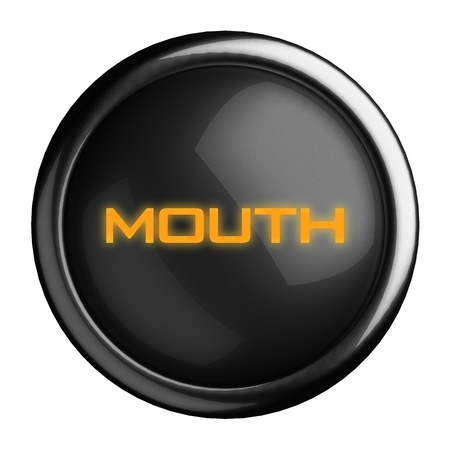Word on black button Stock Photo - 15682982