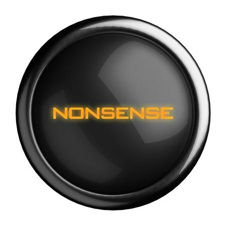 nonsense: Word on black button