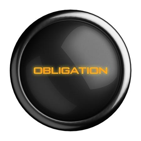 obligation: Word on black button