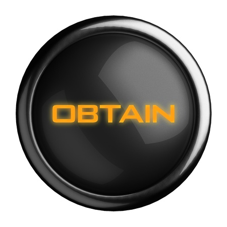 obtain: Word on black button