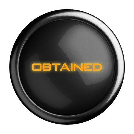 obtained: Word on black button