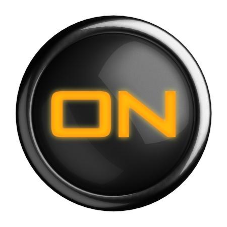 Word on black button Stock Photo - 15664464