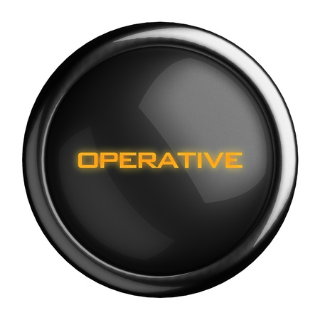 operative: Word on black button