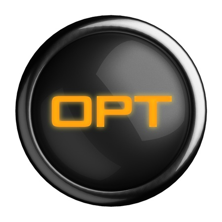 opt: Word on black button
