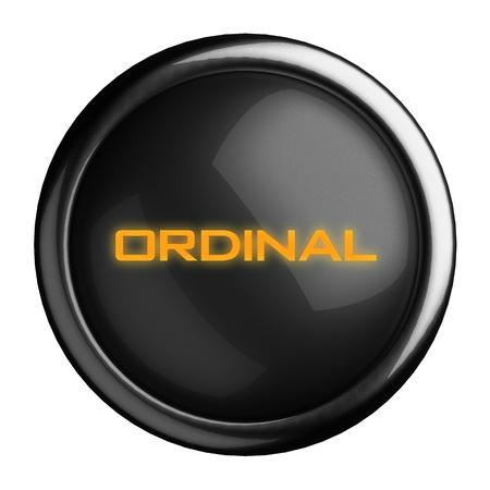 Ordinal: Word on schwarze Taste Lizenzfreie Bilder