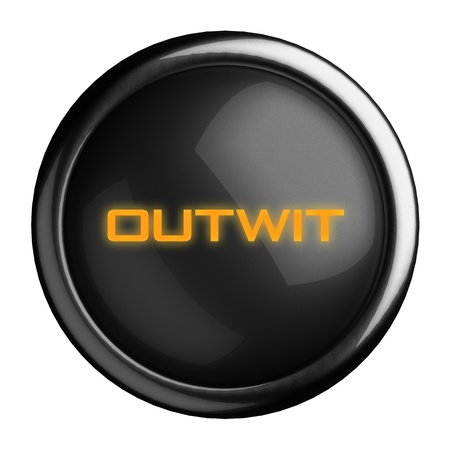 outwit: Word on black button