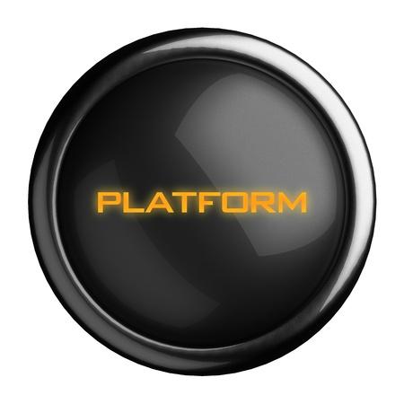 Word on black button Stock Photo - 15712413