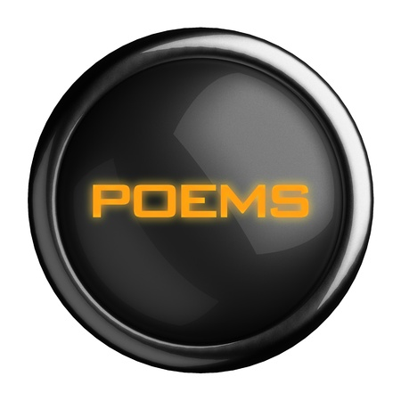 poems: Word on black button