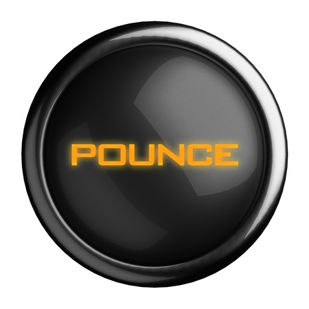 pounce: Word on black button