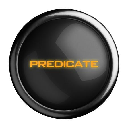 predicate: Word on black button