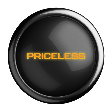 priceless: Word on black button