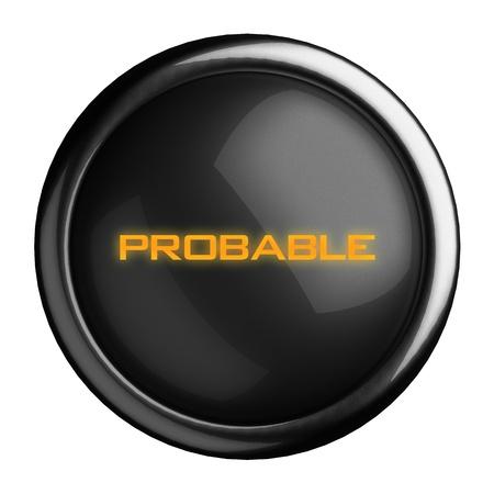 Word on black button Stock Photo - 15711171