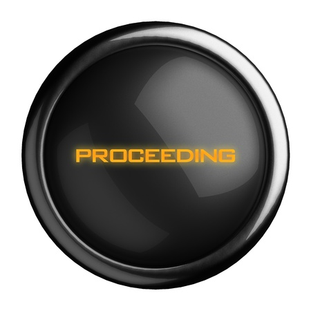 proceeding: Word on black button