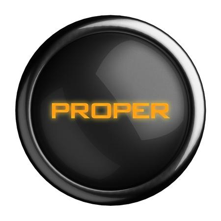 proper: Word on black button