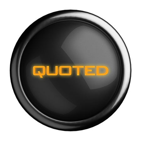 quoted: Word on black button