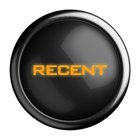 recent: Word on black button