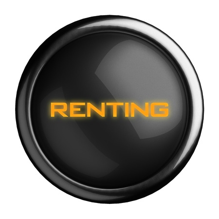 renting: Word on black button