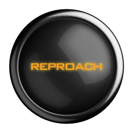 reproach: Word on black button