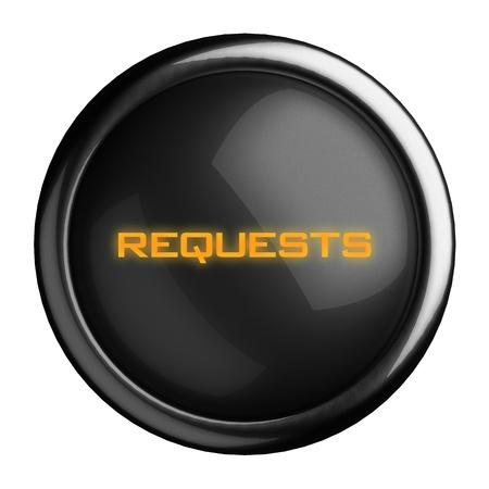Word on black button Stock Photo - 15711986