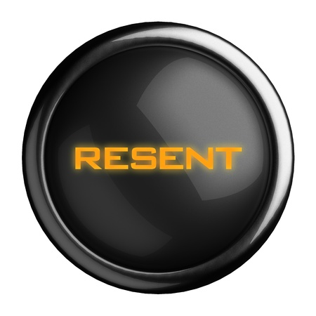 resent: Word on black button