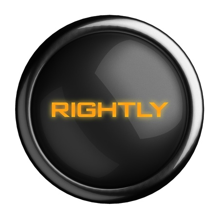 rightly: Word on black button