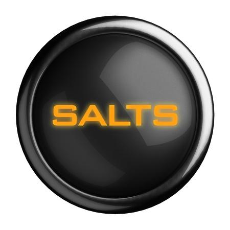 salts: Word on black button