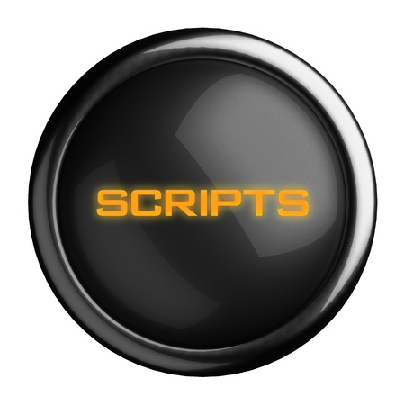 post scripts: Word on black button