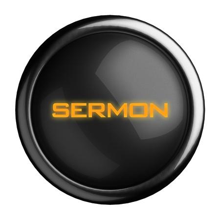 sermon: Word on black button