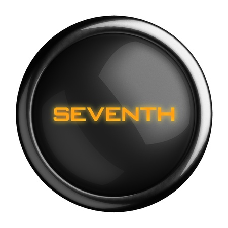 seventh: Word on black button