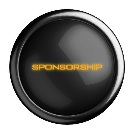 sponsorship: Word on black button