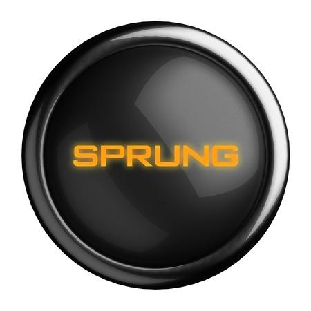 sprung: Word on black button