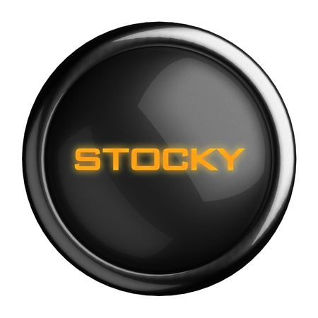 stocky: Word on black button