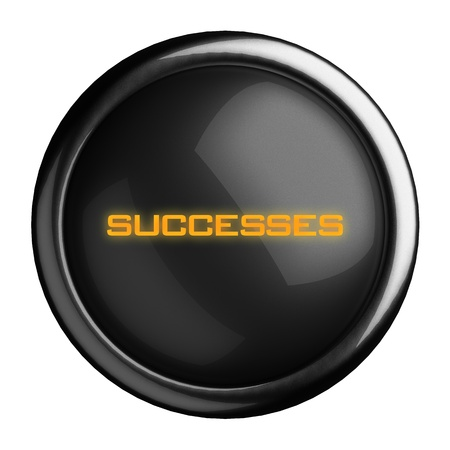 successes: Word on black button