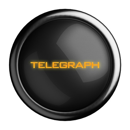telegraph: Word on black button