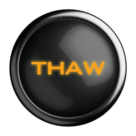 thaw: Word on black button