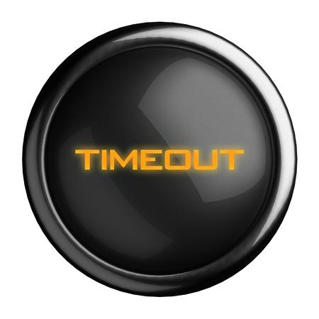 Palabra en el botón negro