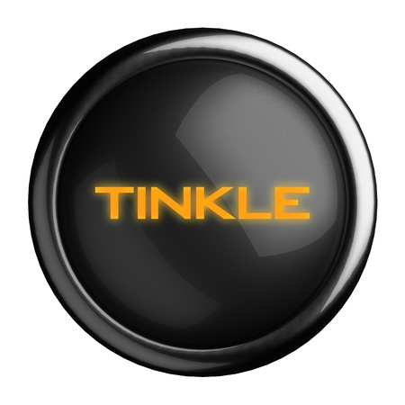 tinkle: Word on black button