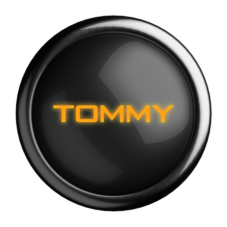 tommy: Word on black button