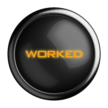 worked: Word on black button