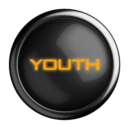 post teen: Word on black button