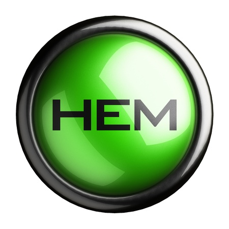 hem: Word on the button
