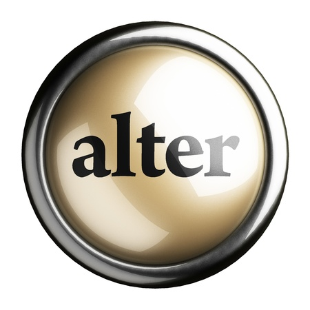 alter: Word on the button