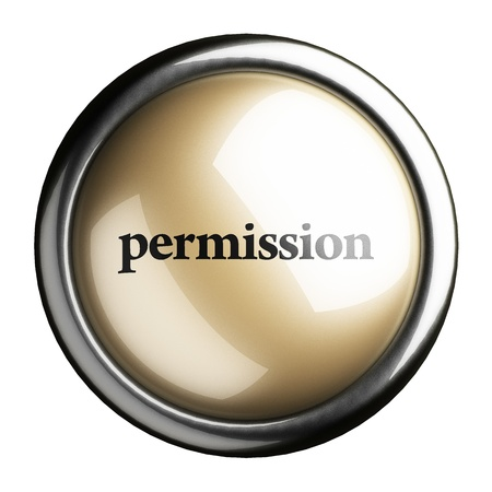 permission: Word on the button
