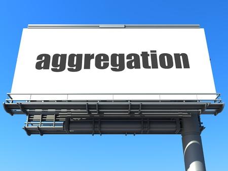 aggregation: word on billboard