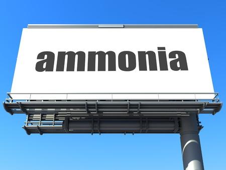 amoniaco: palabra en la cartelera Foto de archivo