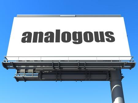 analogous: word on billboard