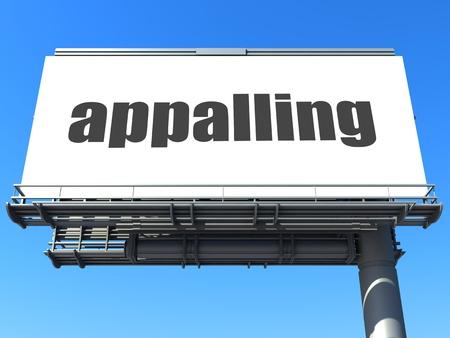 appalling: word on billboard