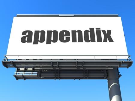 word on billboard Stock Photo - 19185441