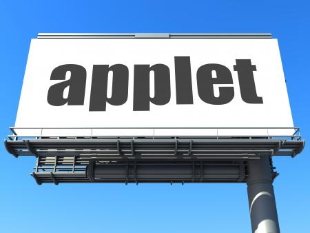 applet: word on billboard